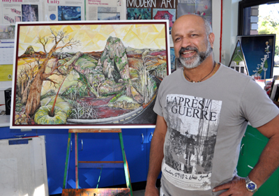 Cajetan Goves - Previously won the People's Choice prize in the 2013 Bayton Award for his depiction of Baga, then known as Mt Jim Crow.