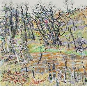 Memories of the Woolwash (detail) by Carmen Beezley-Drake, courtesy CQUniversity Australia.
