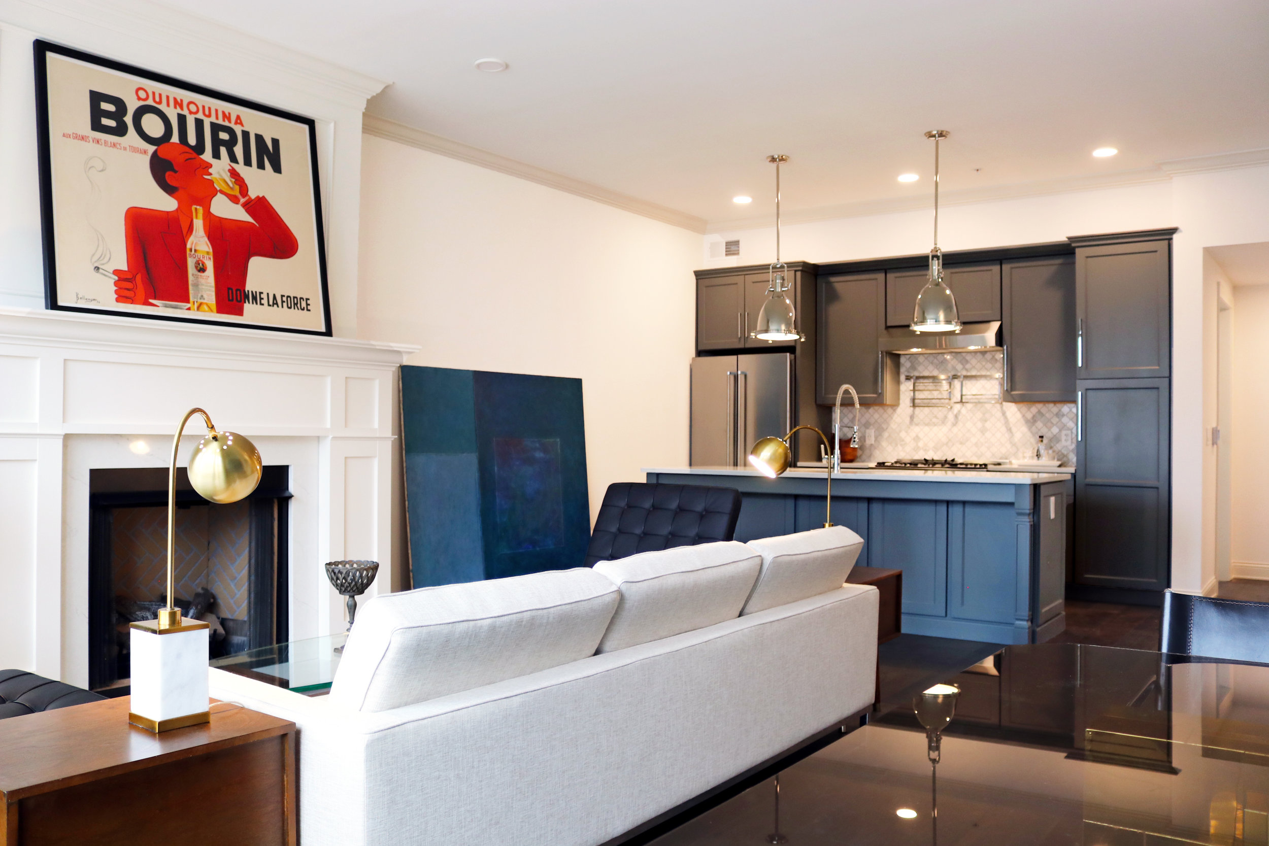 Brunner Building Apartment Living Room 6 and Kitchen - Schooley Caldwell.jpg