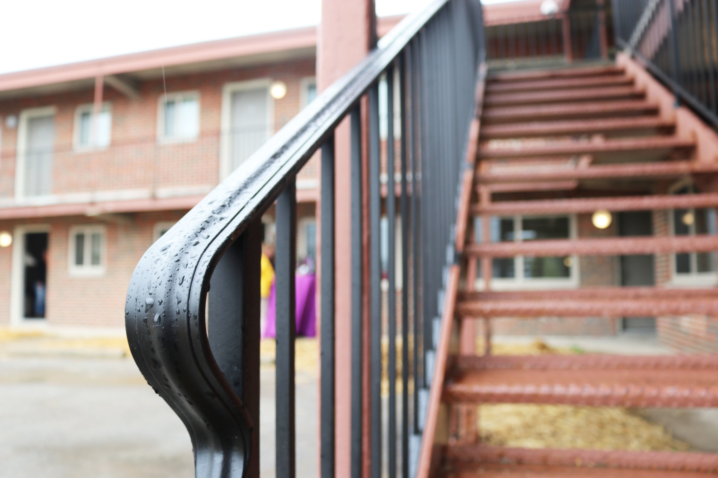 EXTERIOR // AFTER:  New cast iron railings
