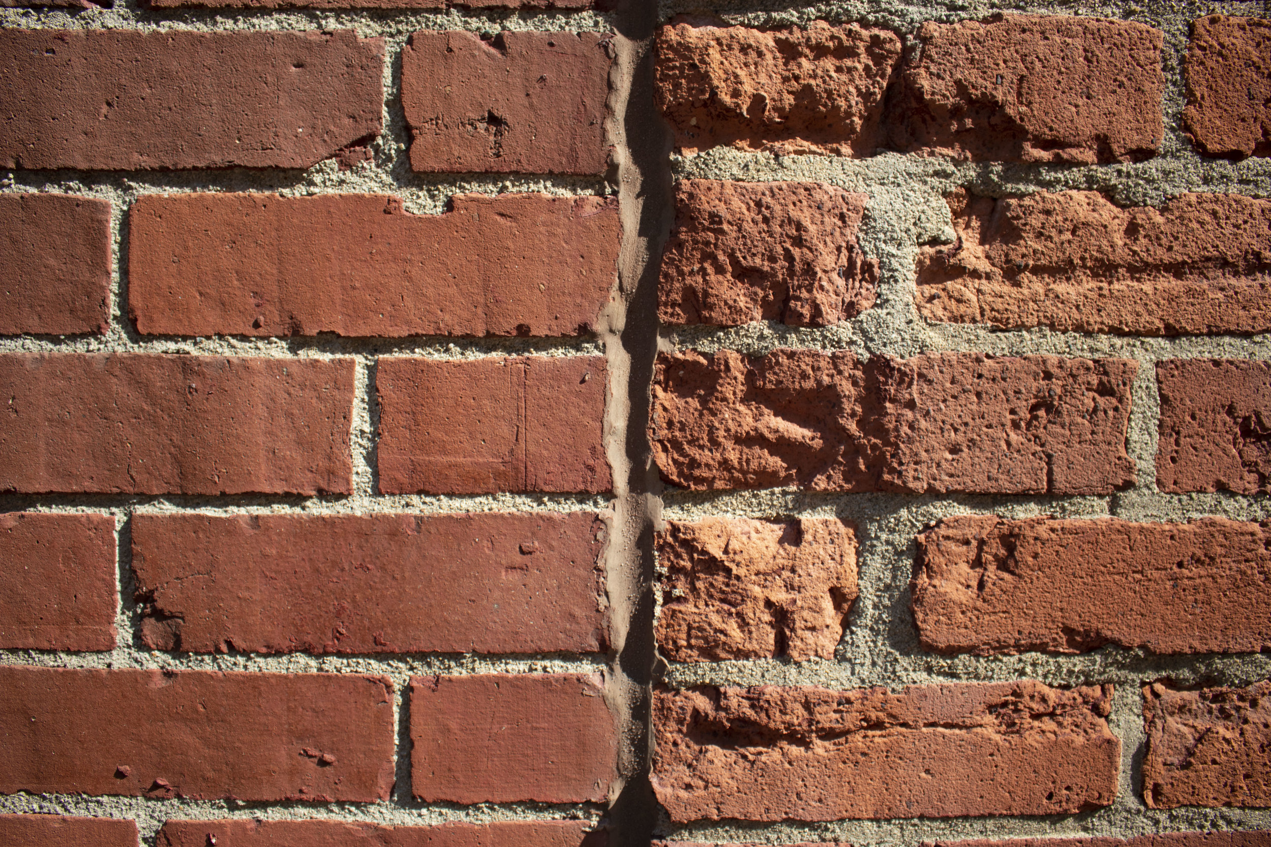Spalled bricks