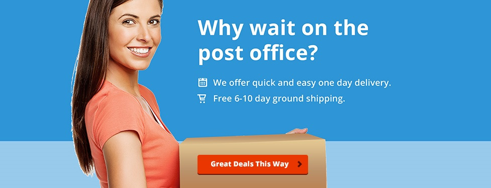 Why wait on the post office?