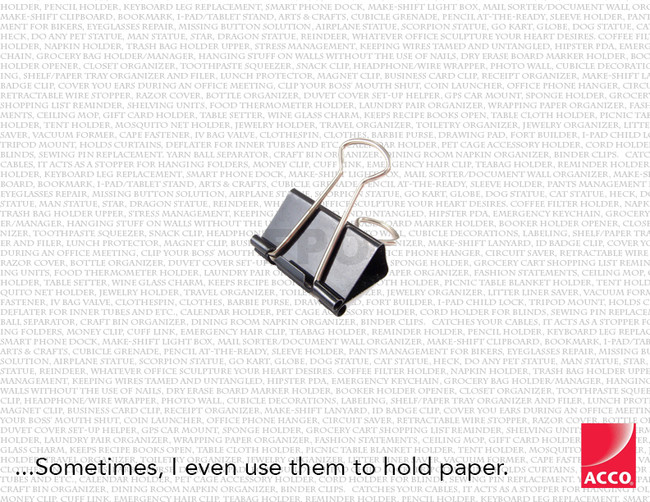 Binder Clip Humorous Ad