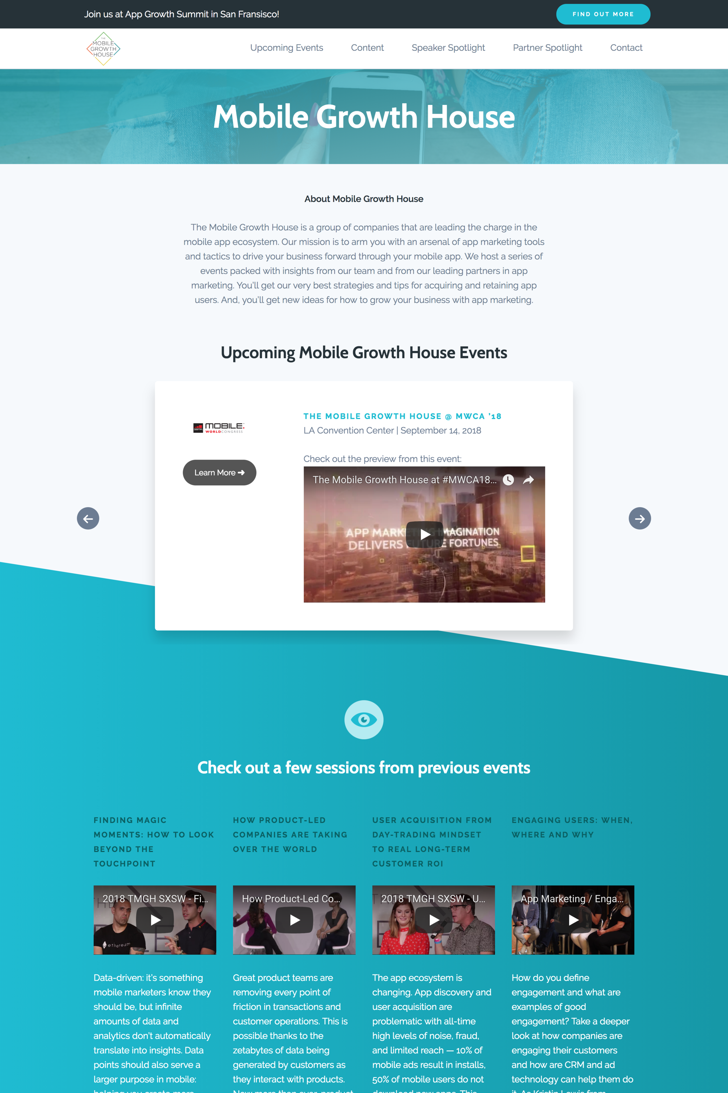 The Mobile Growth House Website