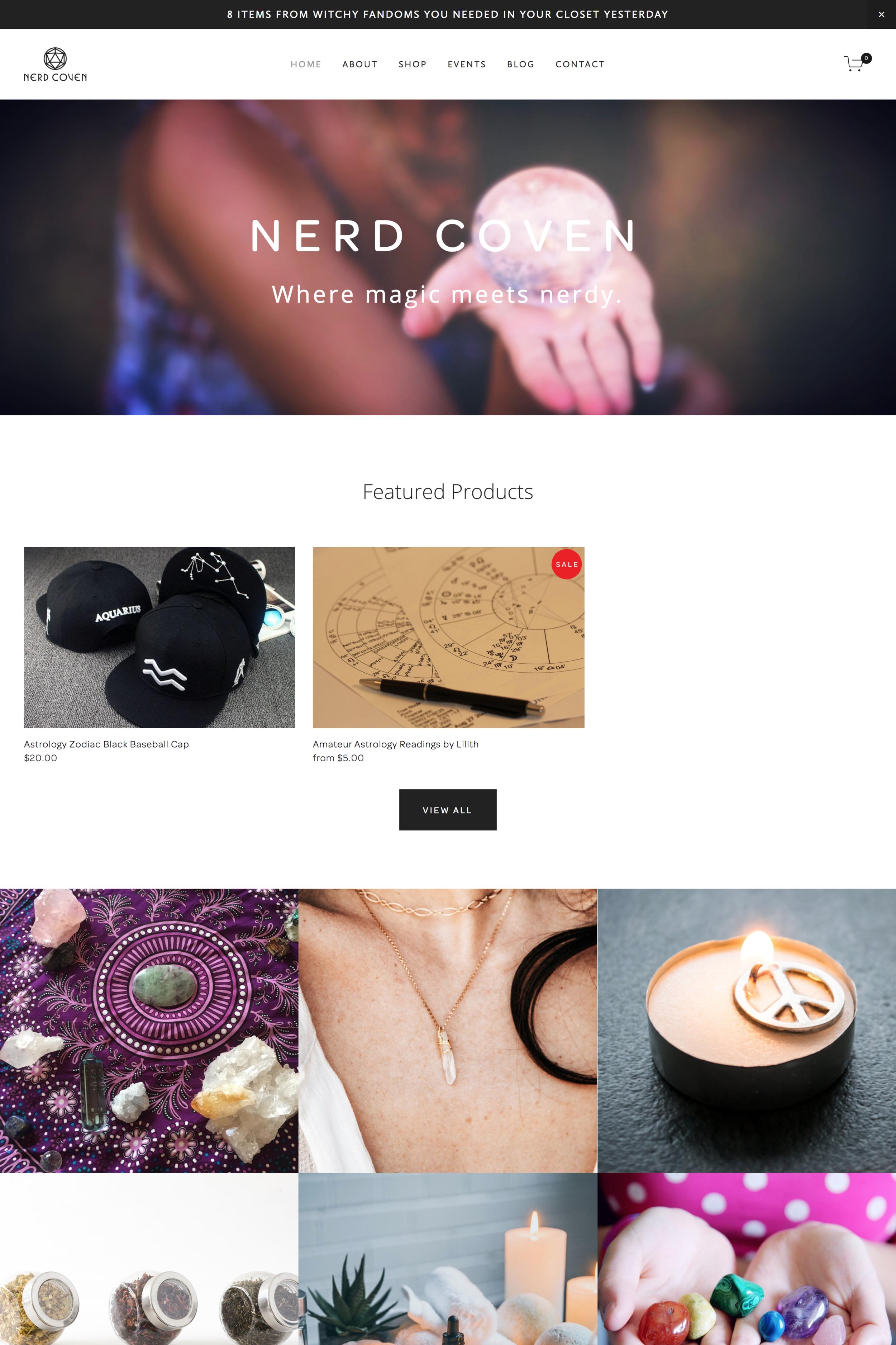 Nerd Coven Website