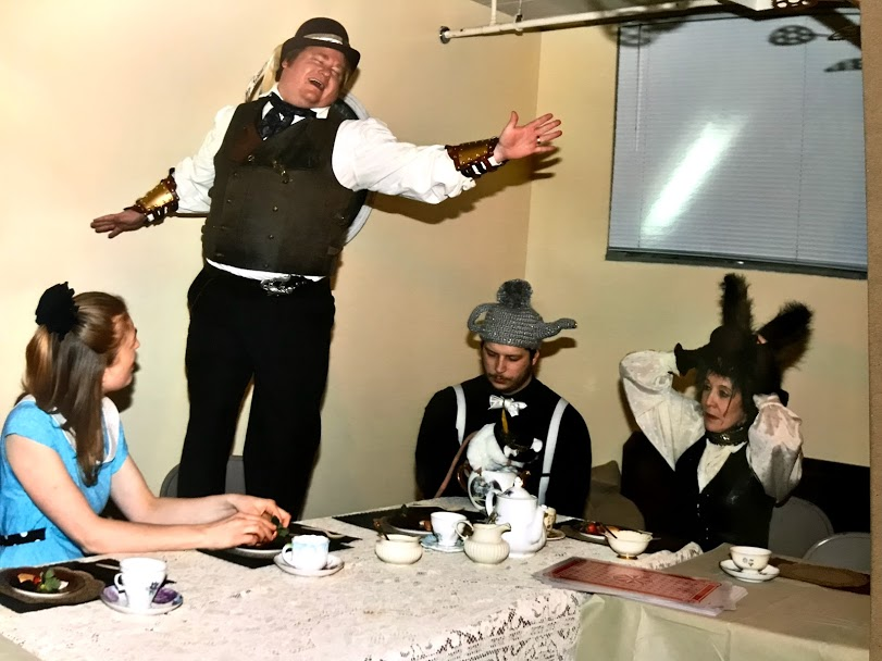 The Mad Hatter launches into song.