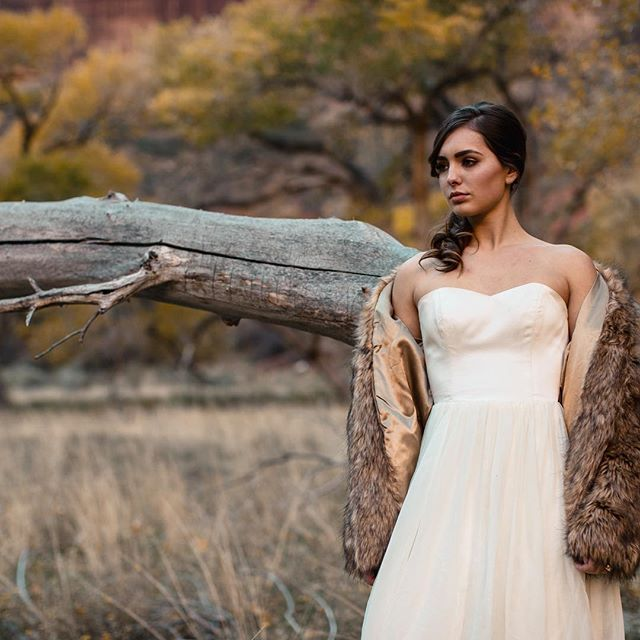 For the bride with a Bohemian Soul 🌙 Couture Wedding Dress: @chantellaurendesigns Coat: @asos_us Design and Coordination: @deannanashevents Hand Painted Stationary: @momental Makeup and hair: @beautylabsalon Location: @zionnps Photography and Videography: @theargusimage ✨ See the magic live on our website (Link in Bio).
