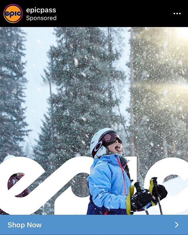 REPOST from @epicpass. Get ready for ski season everyone! You may have started to see some of the material we shot for Keystone Resort and Vail Resorts recently. We're excited to see our work popping up on social!