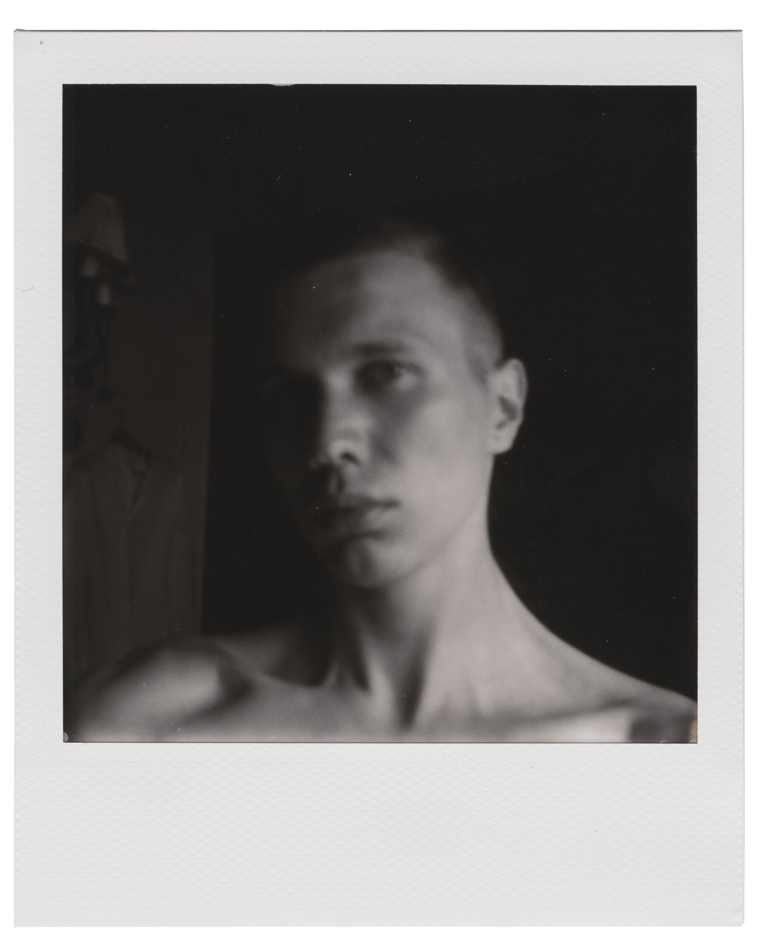 Self-portrait, June 2 2018 (Polaroid 600) Thobias Malmberg