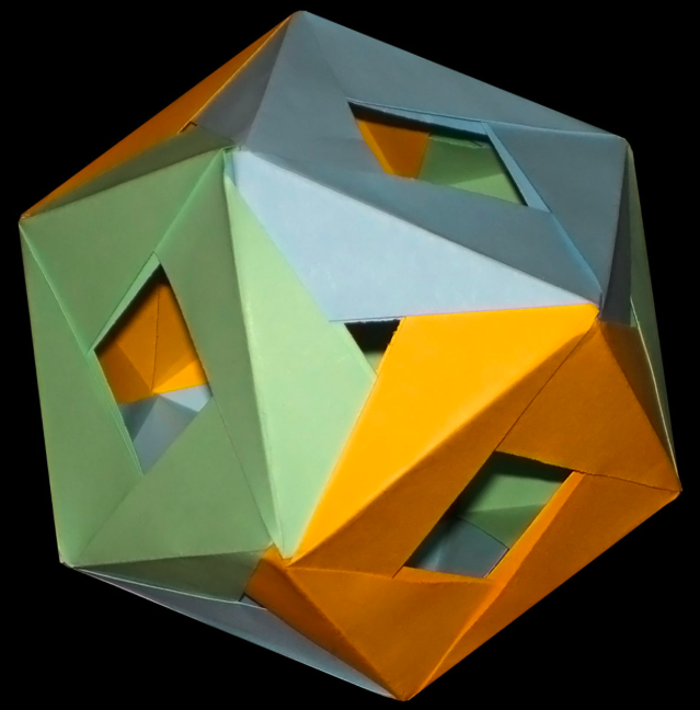 Modular Origami: How to Make a Cube, Octahedron & Icosahedron from ... | 648x639