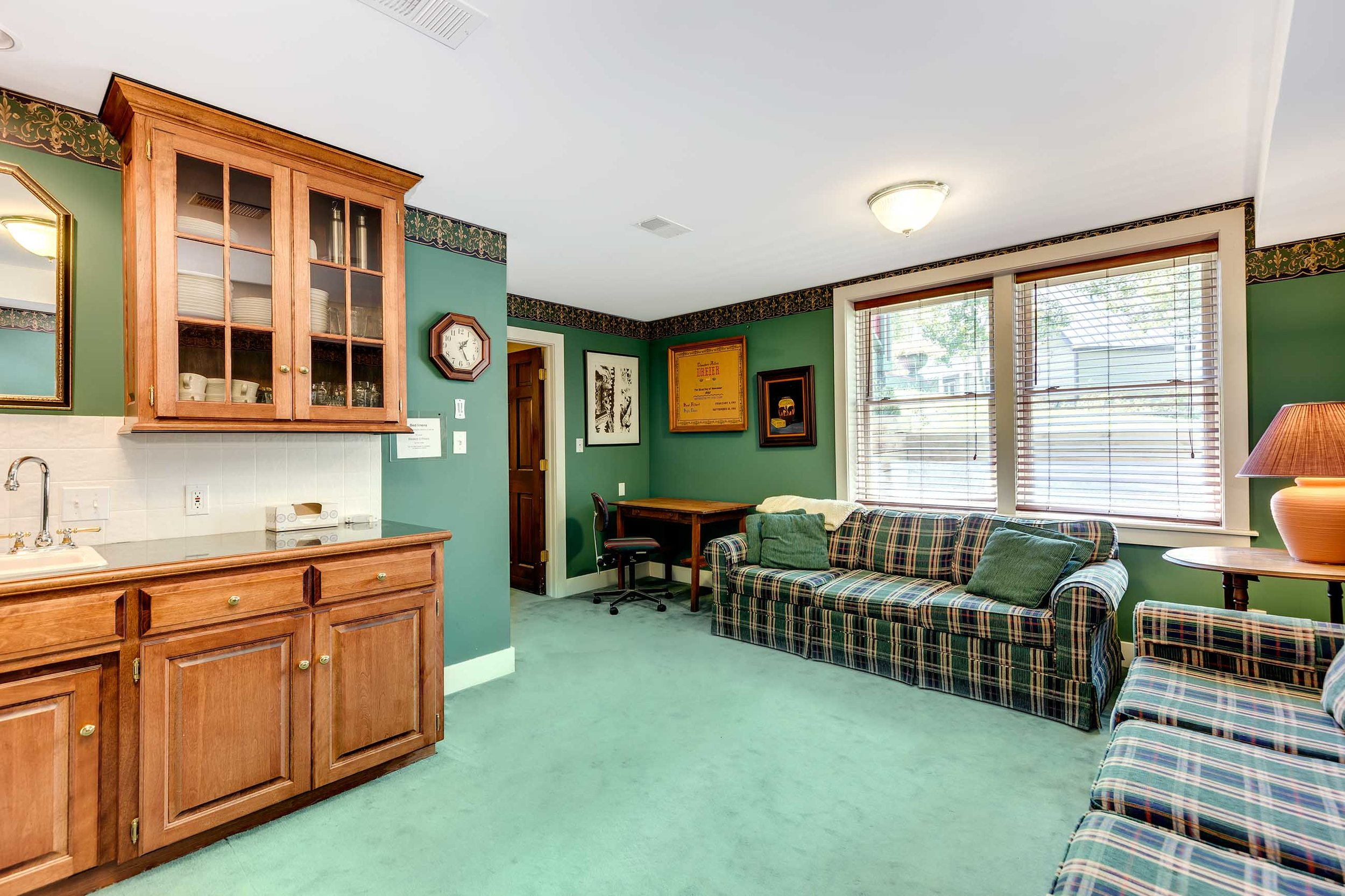 Family Room and Kitchenette - Lower Level