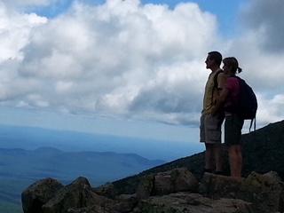 Bryan and Leah Carle on Baxter's Peak at Mount Katahdin