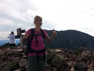 Leah at the top of Mount Katahdin