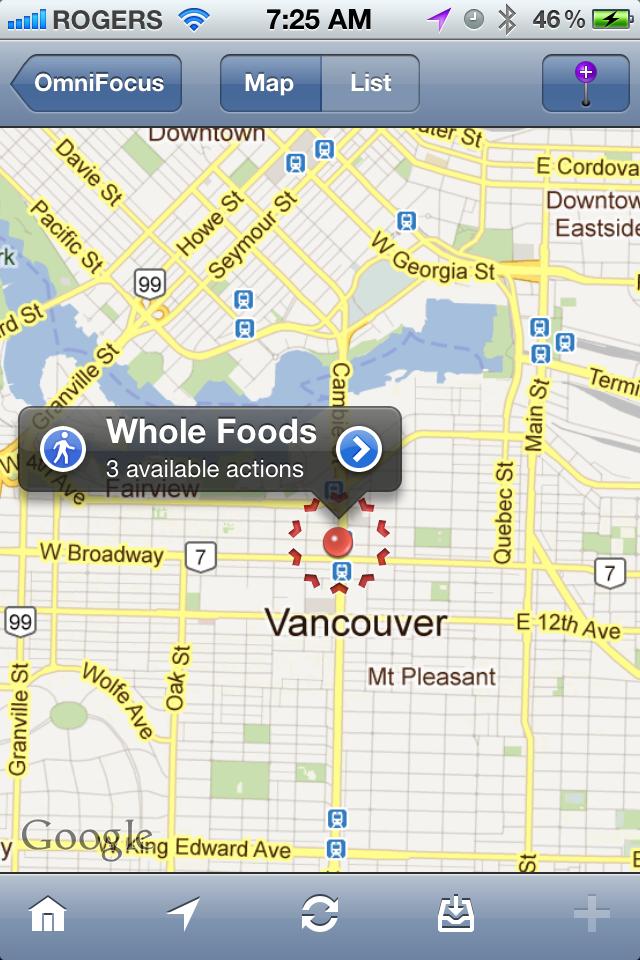 Tim Stringer - OmniFocus Map - iPhone