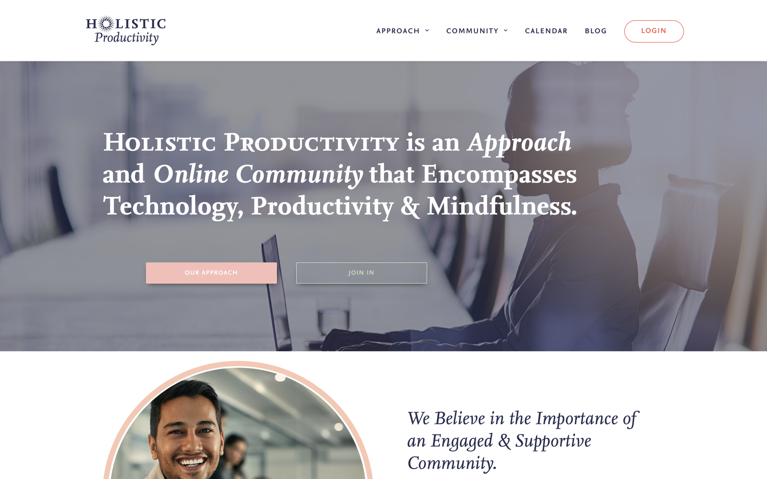 Holistic Productivity Website - Home Page