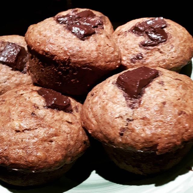 Working on some muffins with Kelly. Talamanca chocolate. Ripe bananas. Limon de madarina to help the levaning.  No shortage of taste testers!! timhalleycatering.com timhalley.com #guelphcatering #guelphbreakfast #guelphmuffins #personalchef #localfood #wellingtoncaterer #wellingtoncounty #cheftimhalley #chocolatebananamuffins #treetobar #todiefor