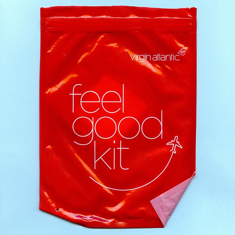 Travel Ephemera Still Life 325, Feel Good Kit (Virgin Atlantic)