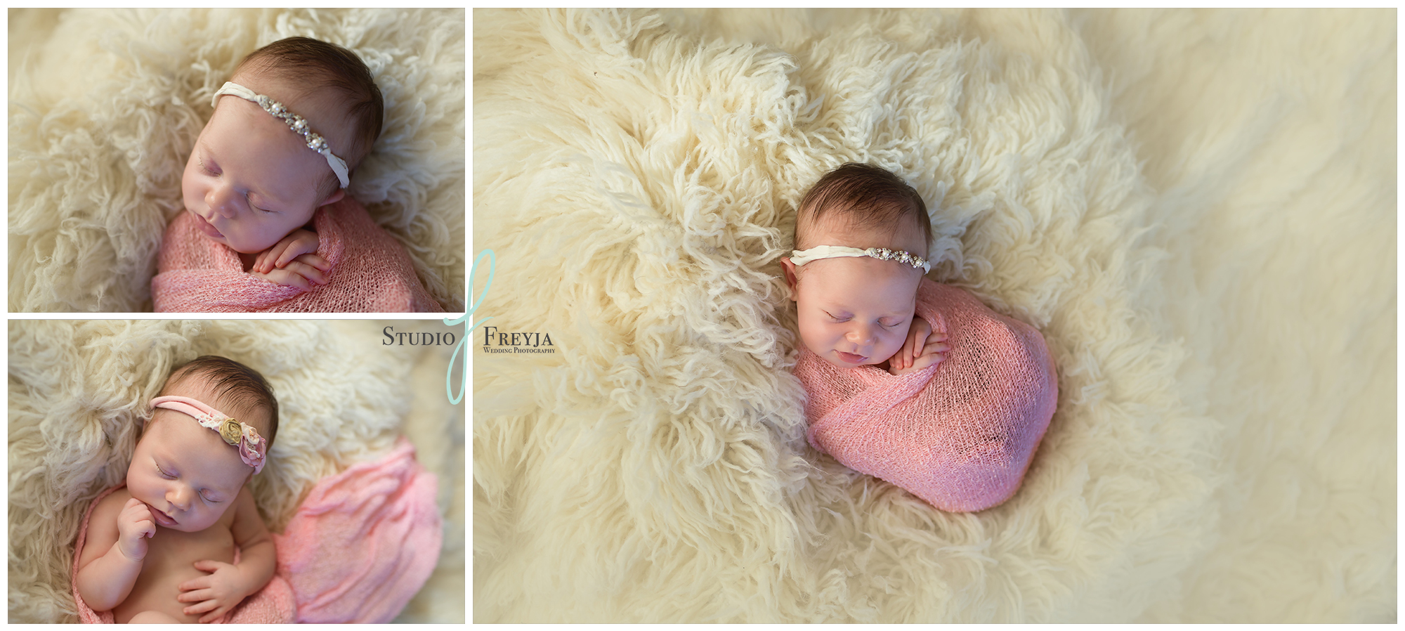 Ava's Newborn Collage from Baby Session in San Diego CA