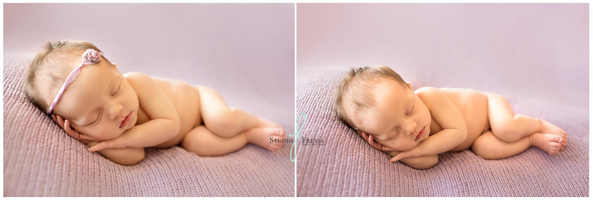 Sleeping Baby Girl by Newborn Photographer in San DIego