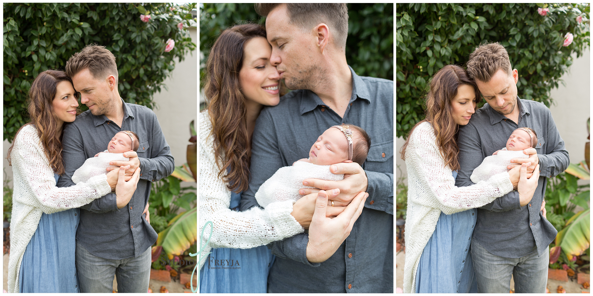Outdoor Parent pictures during newborn session in San Diego CA