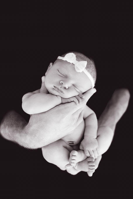 Black and White Baby Maci - San Diego Newborn Pictures