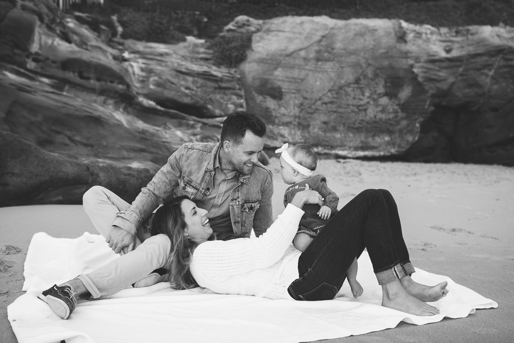 Sunset Beach Family Pictures by Local Newborn Photographer in San Diego, CA