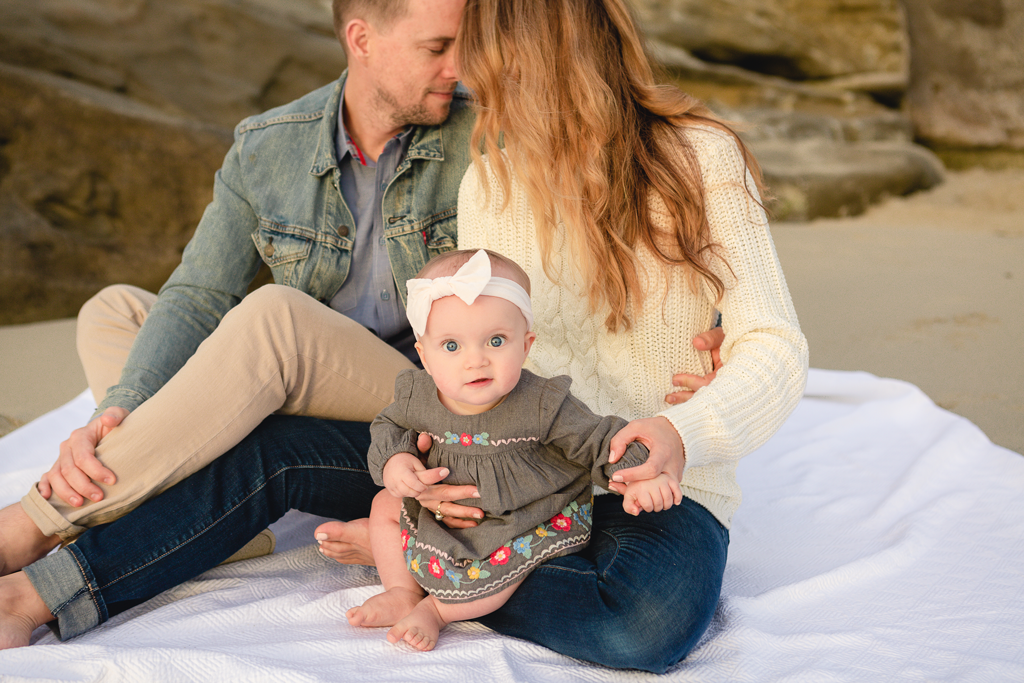 Milestone Pictures in La Jolla by San Diego Baby Photographer
