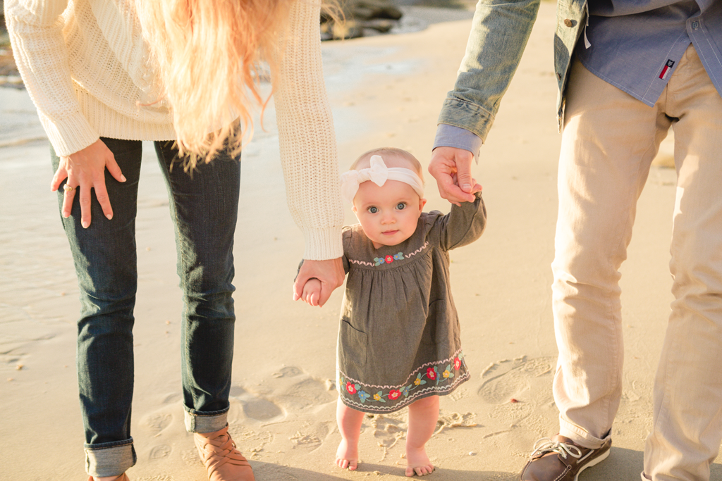 Sunset Family Pictures on the Beaches of La Jolla by Local San Diego Family Photographer