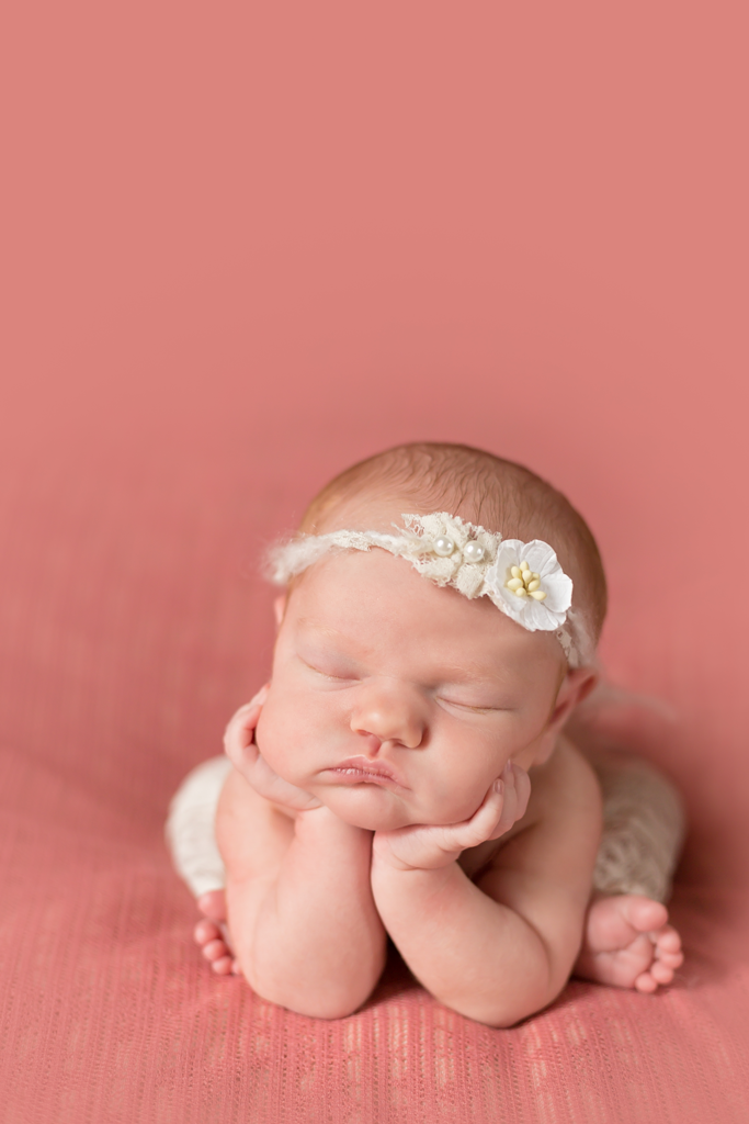 Newborn Photography Session in San Diego CA - Baby Girl doing Froggy Pose