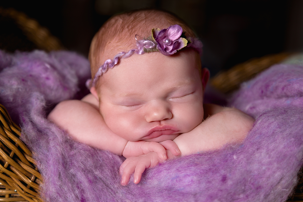 Close up during newborn pictures in San Diego CA