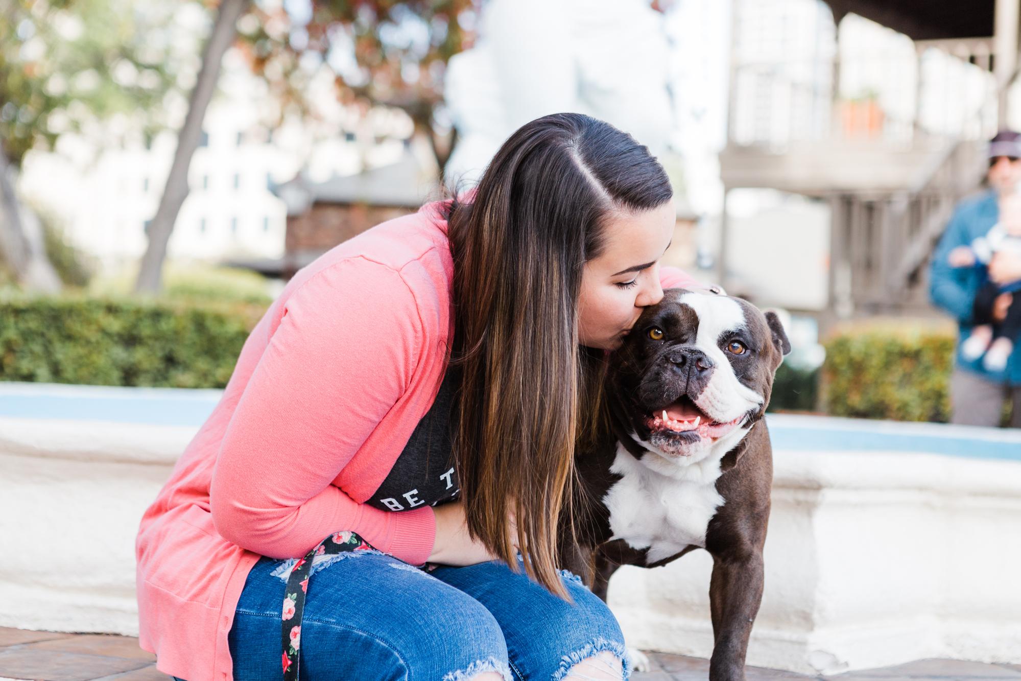 San Diego Portrait Session with English Bulldog