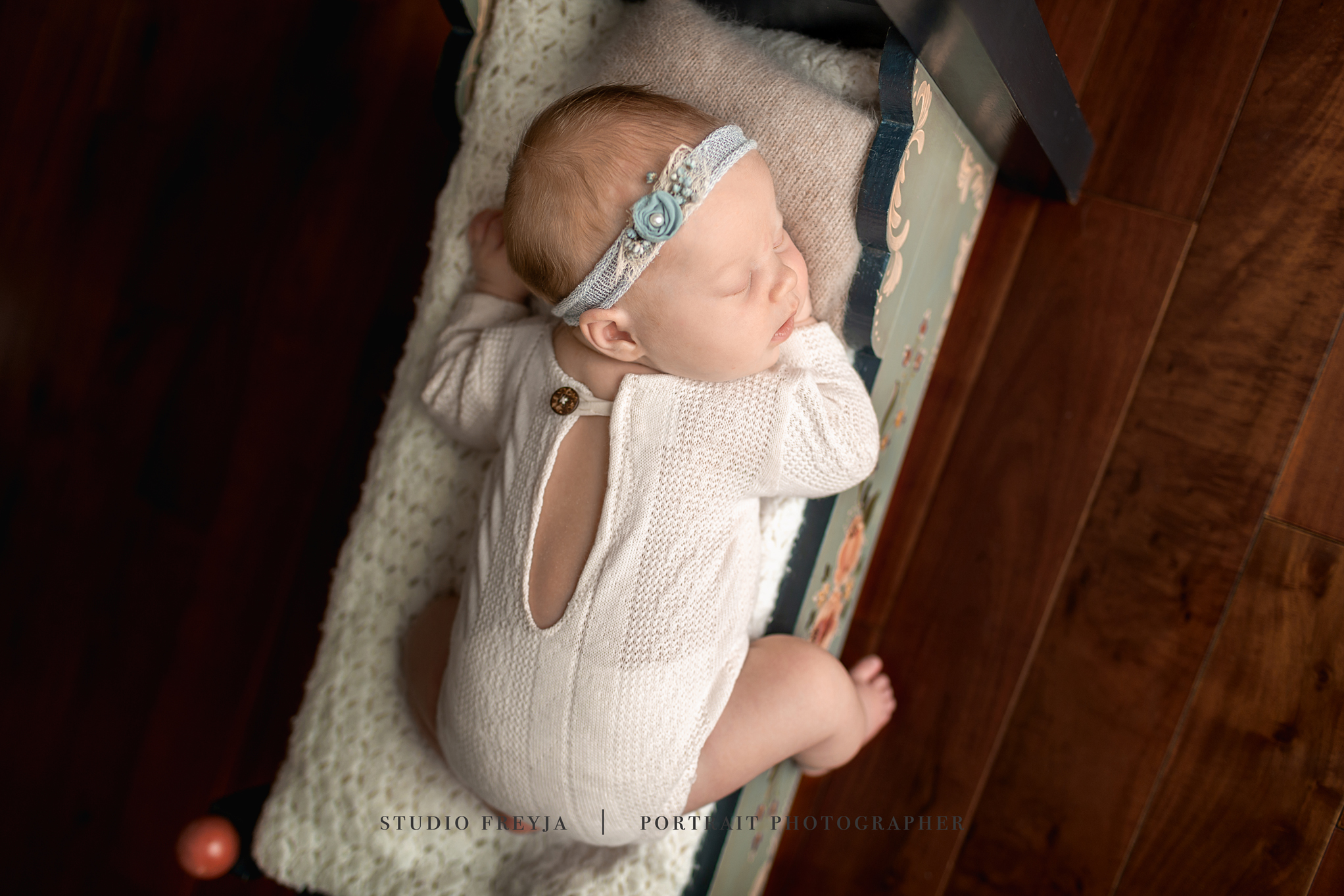 Birdseye View Newborn Girl Session