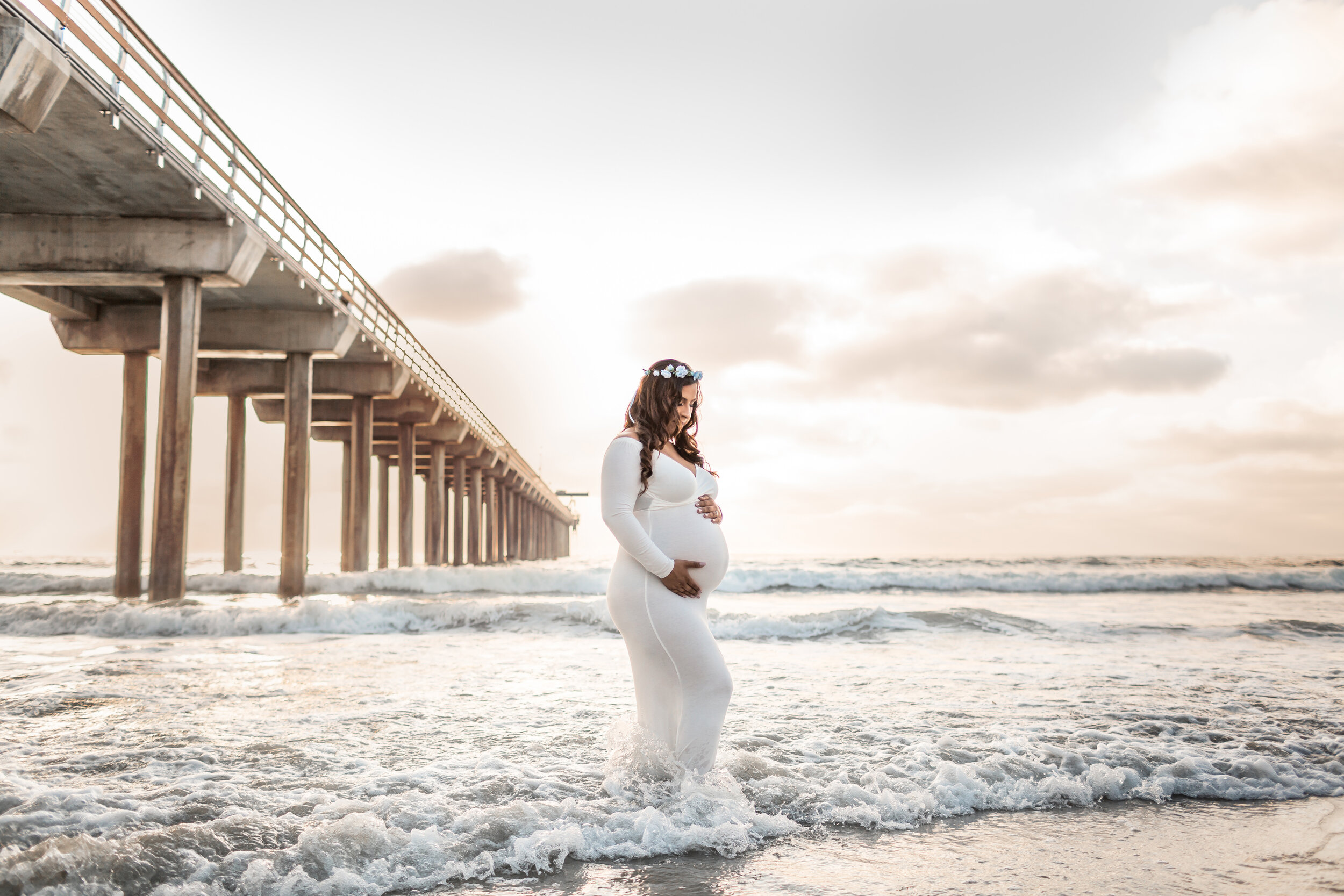 Sunset Beach Maternity Session in San Diego