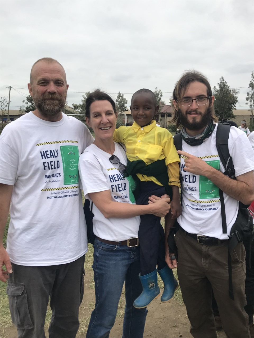 Suzy, Tom and Luke with Elisha