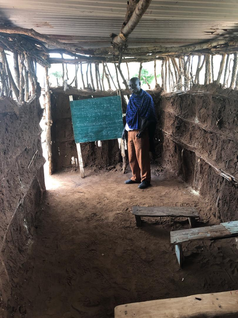 Mud Hut School Interior