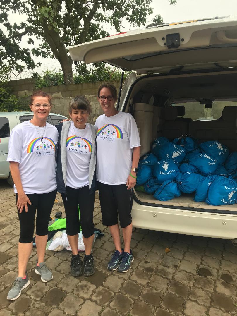 Patty, Tina, and Kim at Mt. Meru Hospital