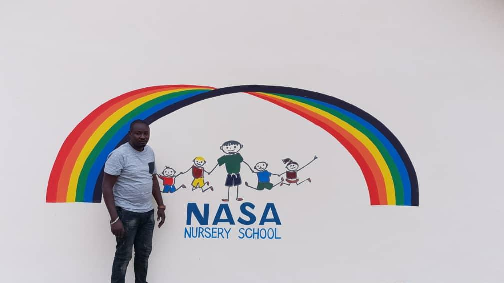 Allen the Artist at NASA School