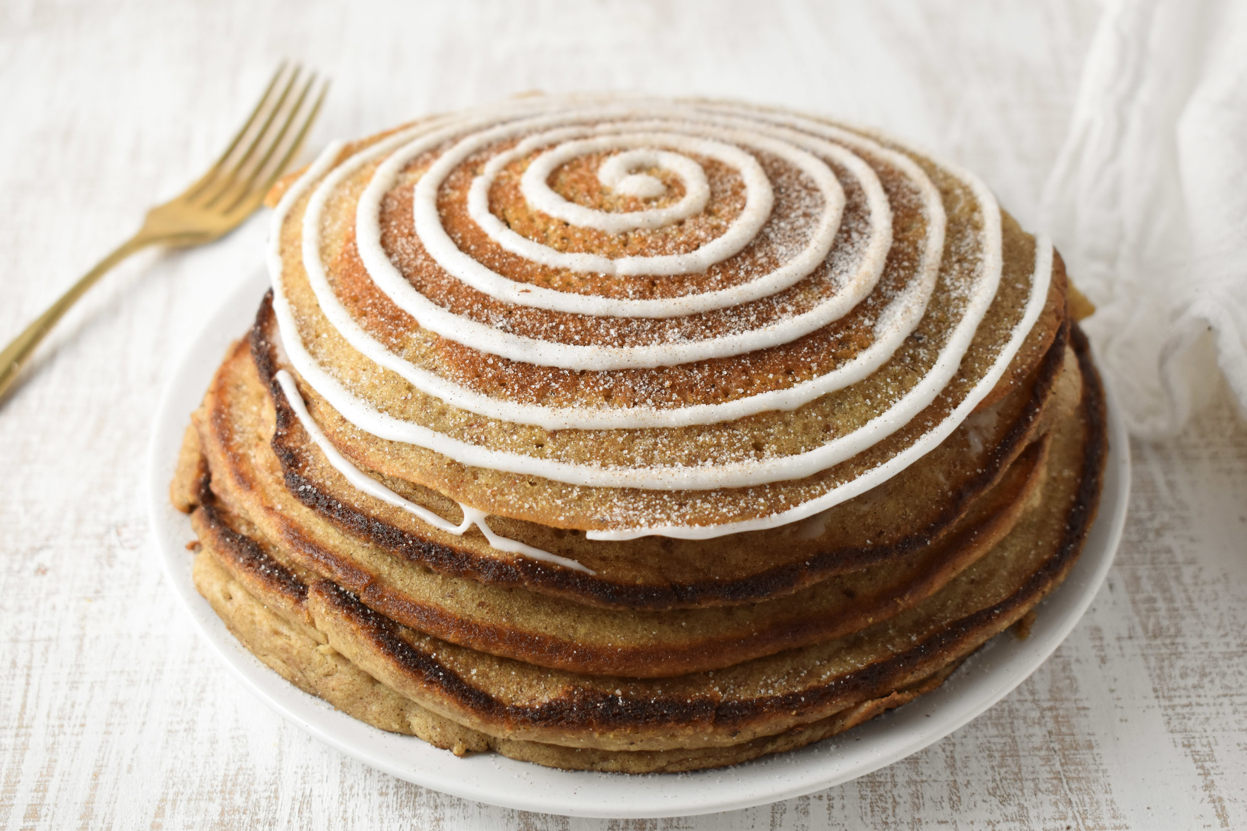 Cinnamon Roll Pancakes | Carolyn