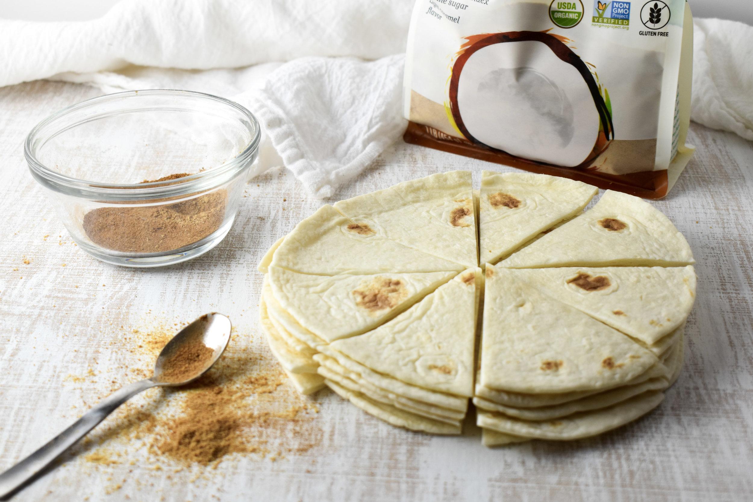 Cinnamon Tortilla Chips // CarolynWilliamsRD.com