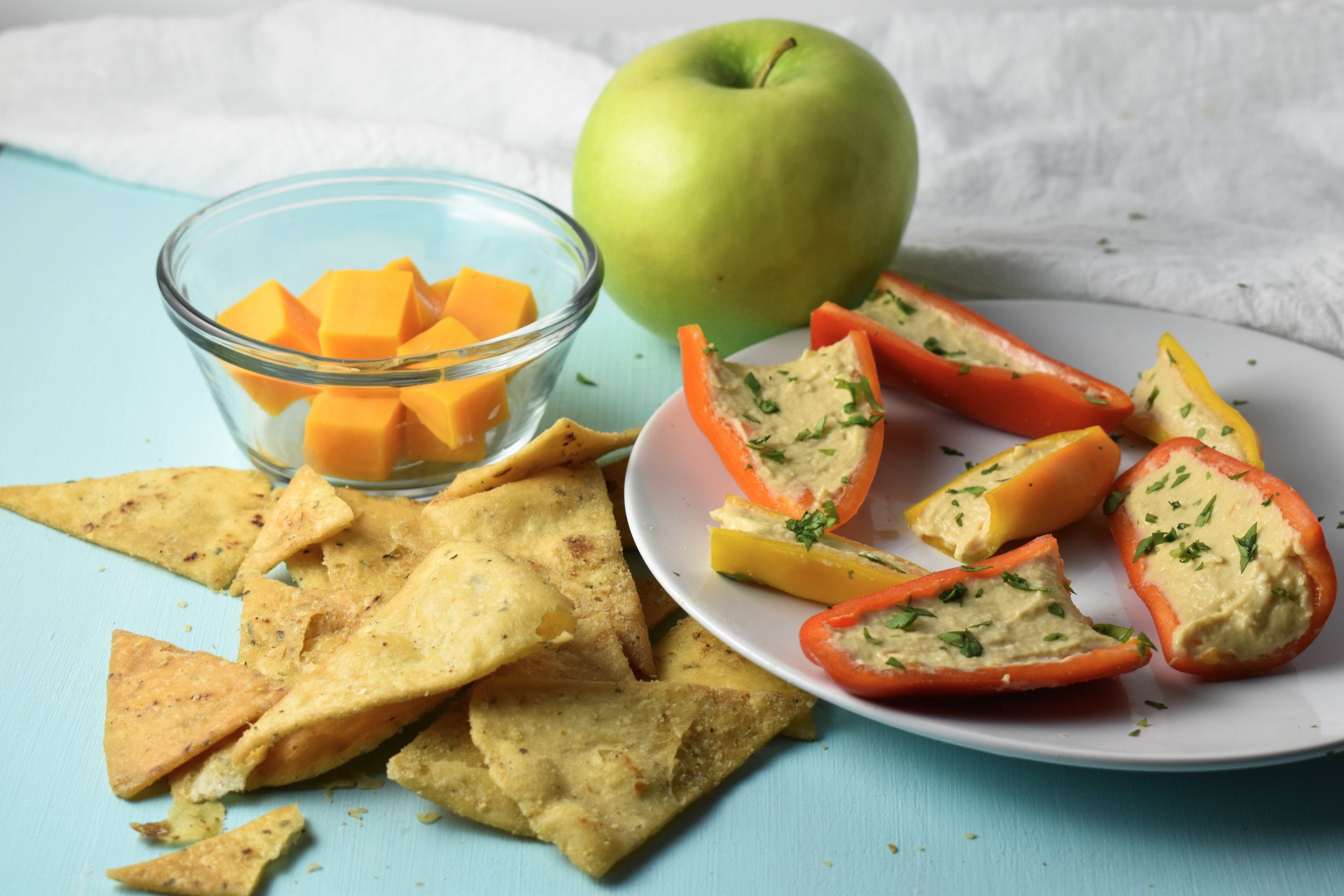 Mini Peps Pita Chips // CarolynWiliamsRD.com