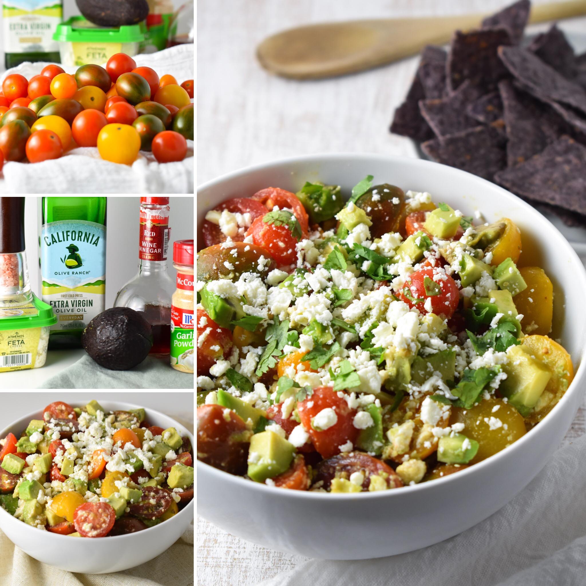 Avocado-Feta Salsa // CarolynWilliamsRD.com