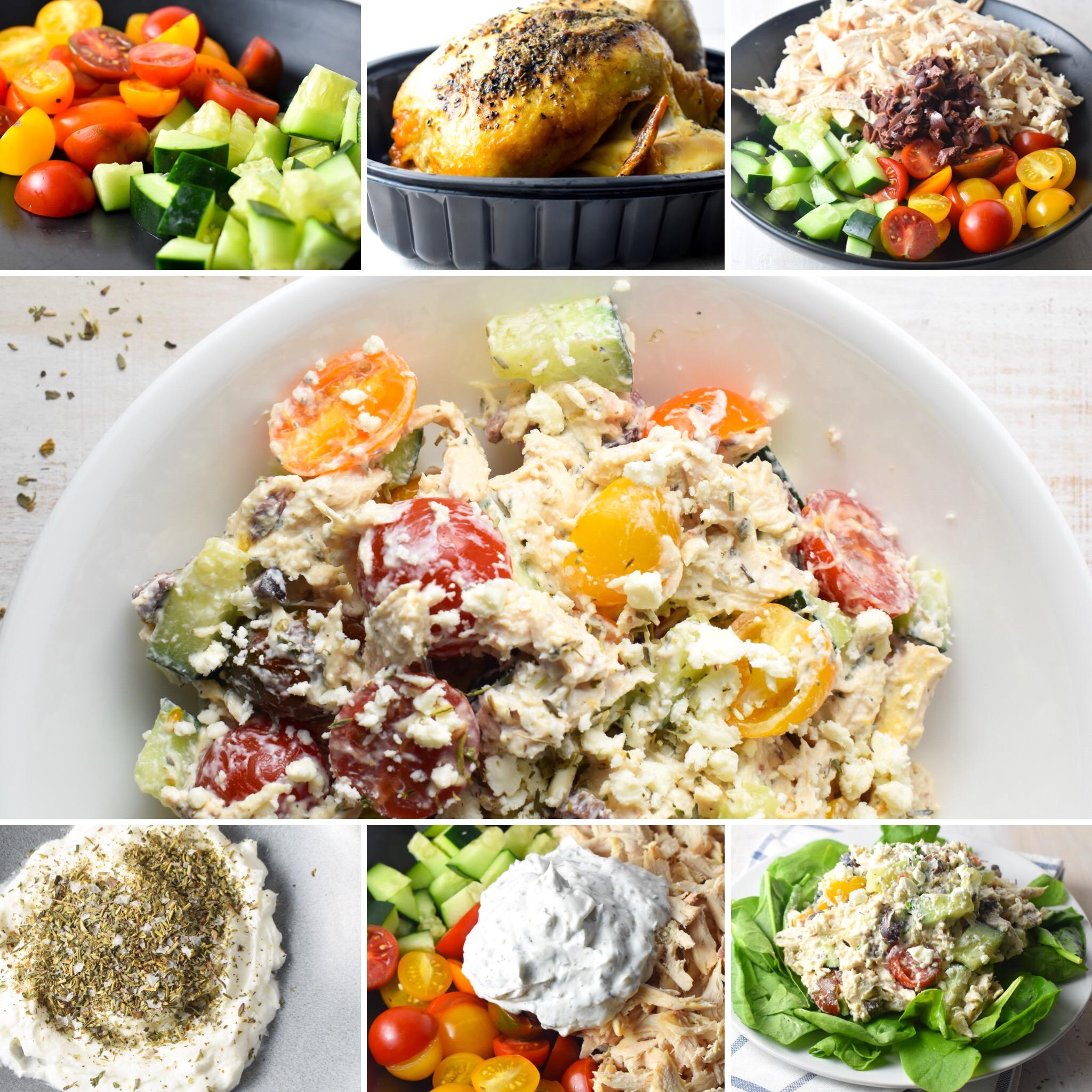 Greek Chicken Salad Collage Carolyn Williams, PhD, RD
