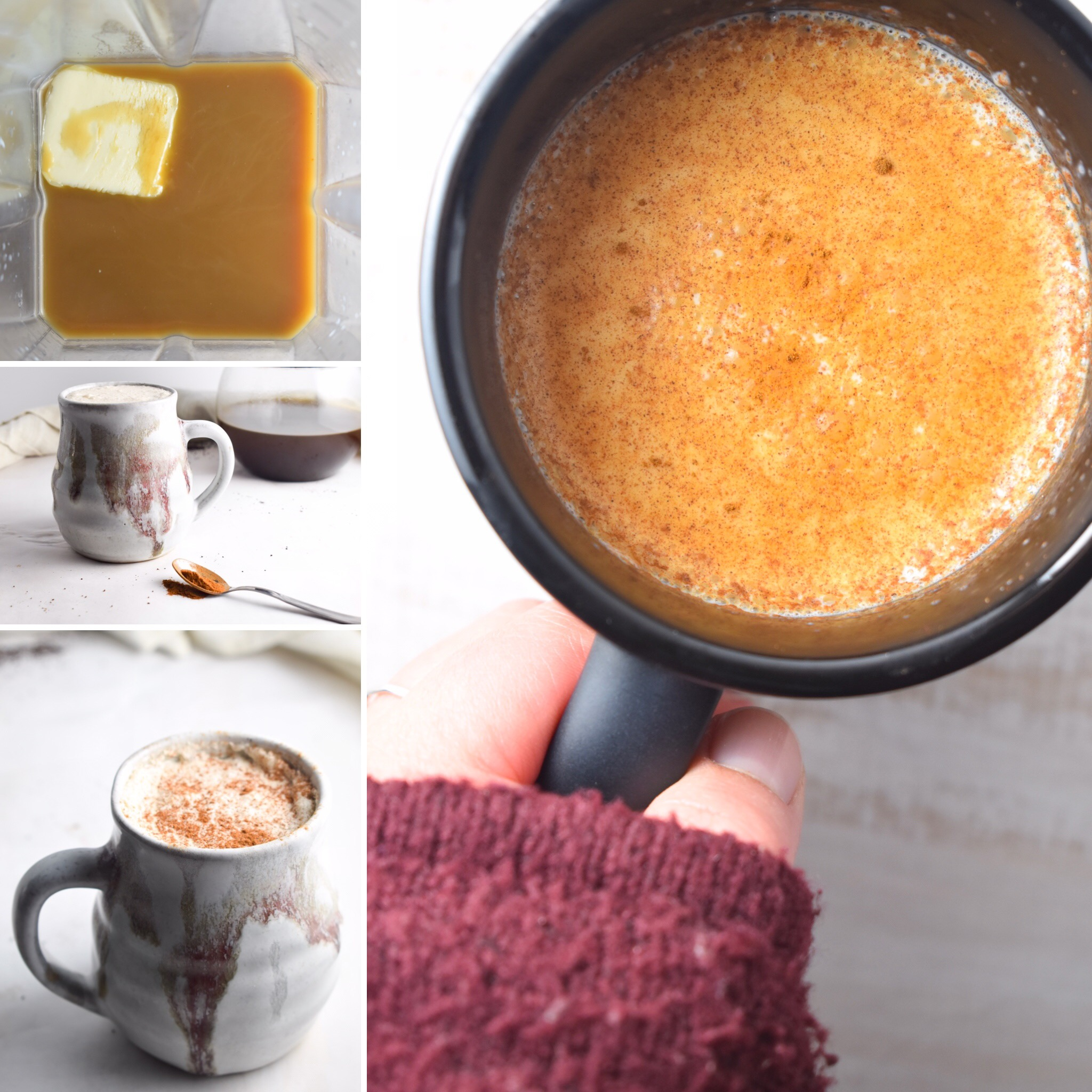Cinnamon Bulletproof Latte Collage