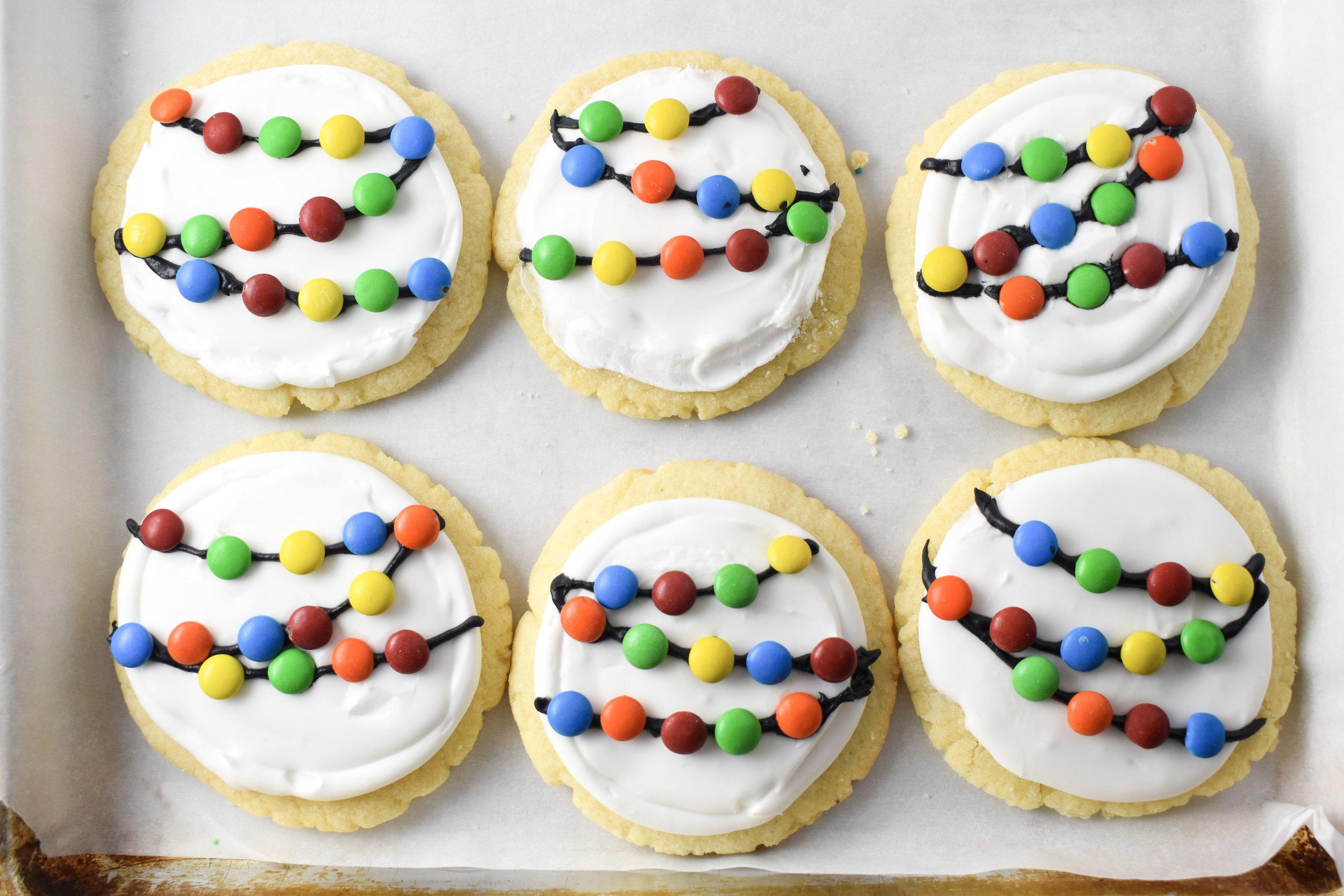 Christmas Lights Holiday Sugar Cookies