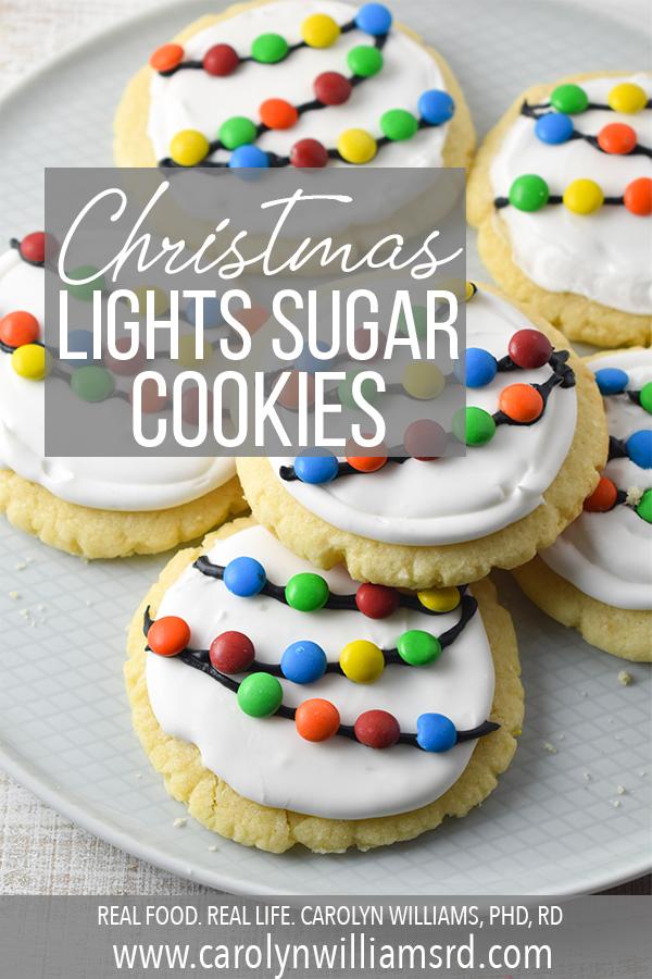 Christmas Lights Sugar Cookies Pin