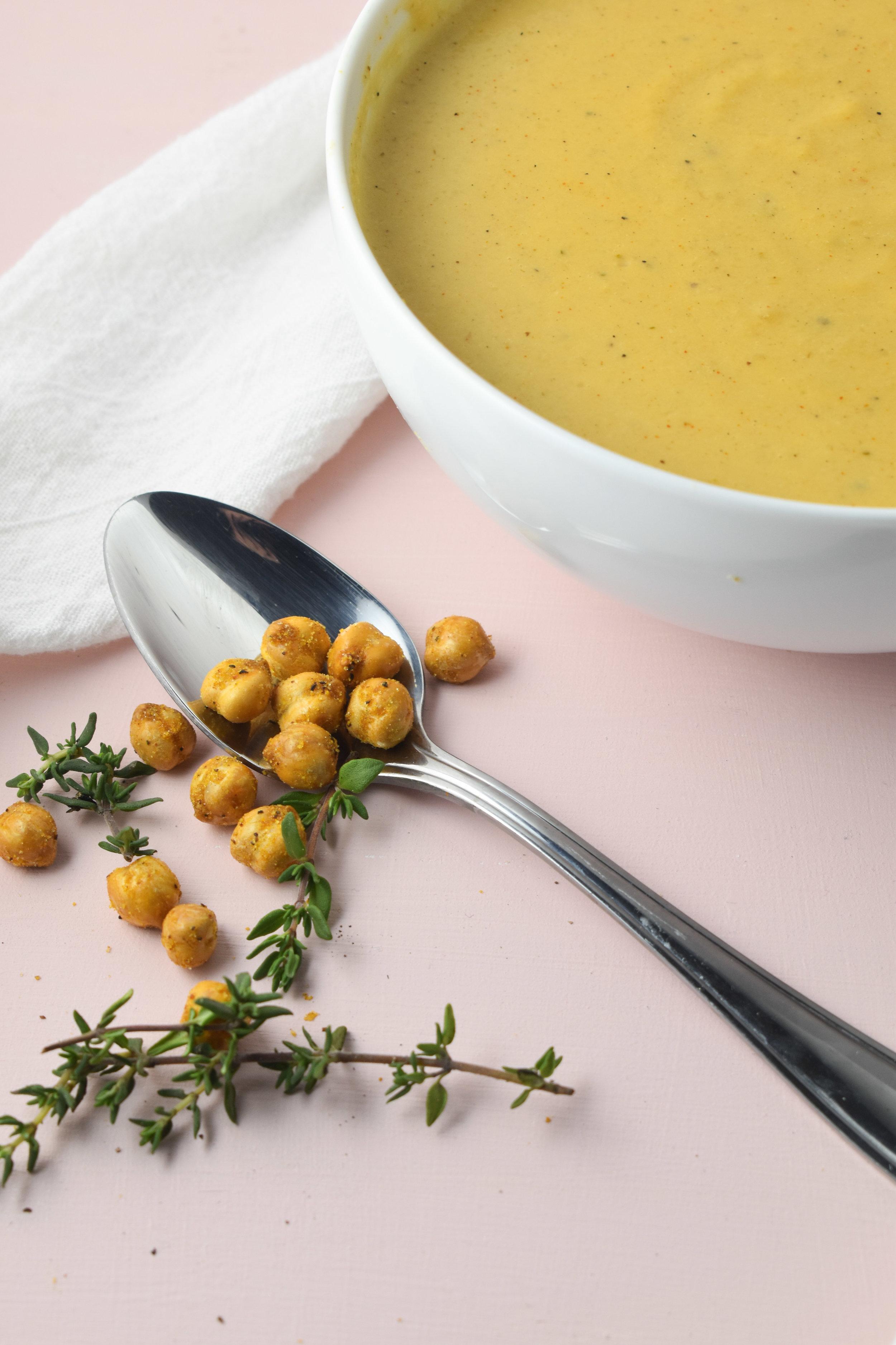 Creamy Gouda Soup / CarolynWilliamsRD.com