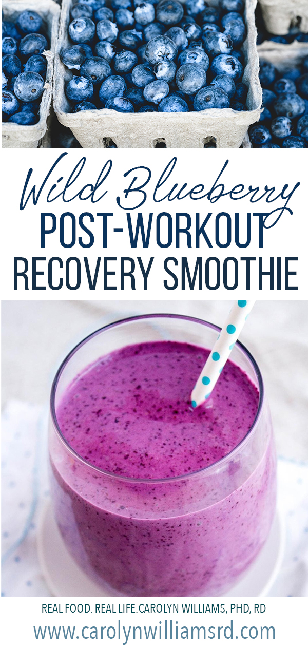 Wild Blueberry Post-Workout Recovery Smoothie - CarolynWilliams.RD.com