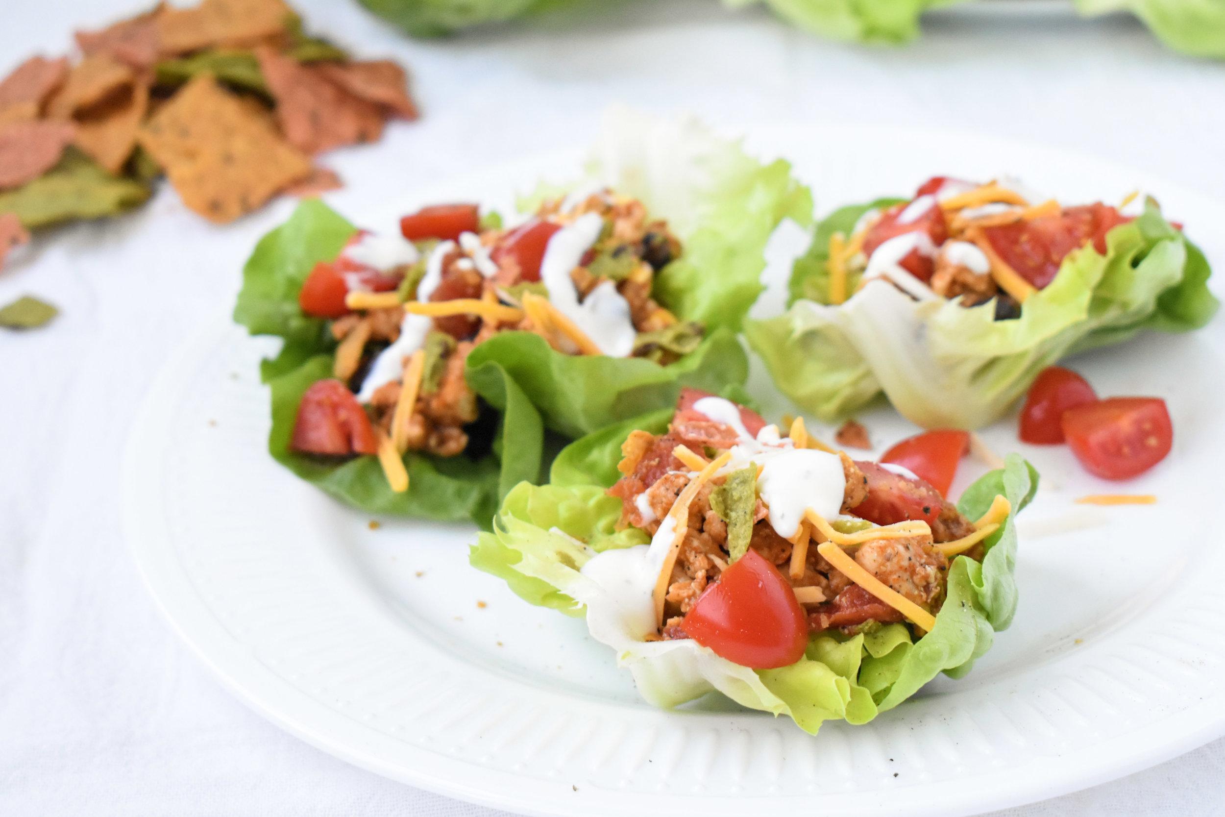 Turkey Taco Lettuce Cups / CarolynWilliamsRD.com