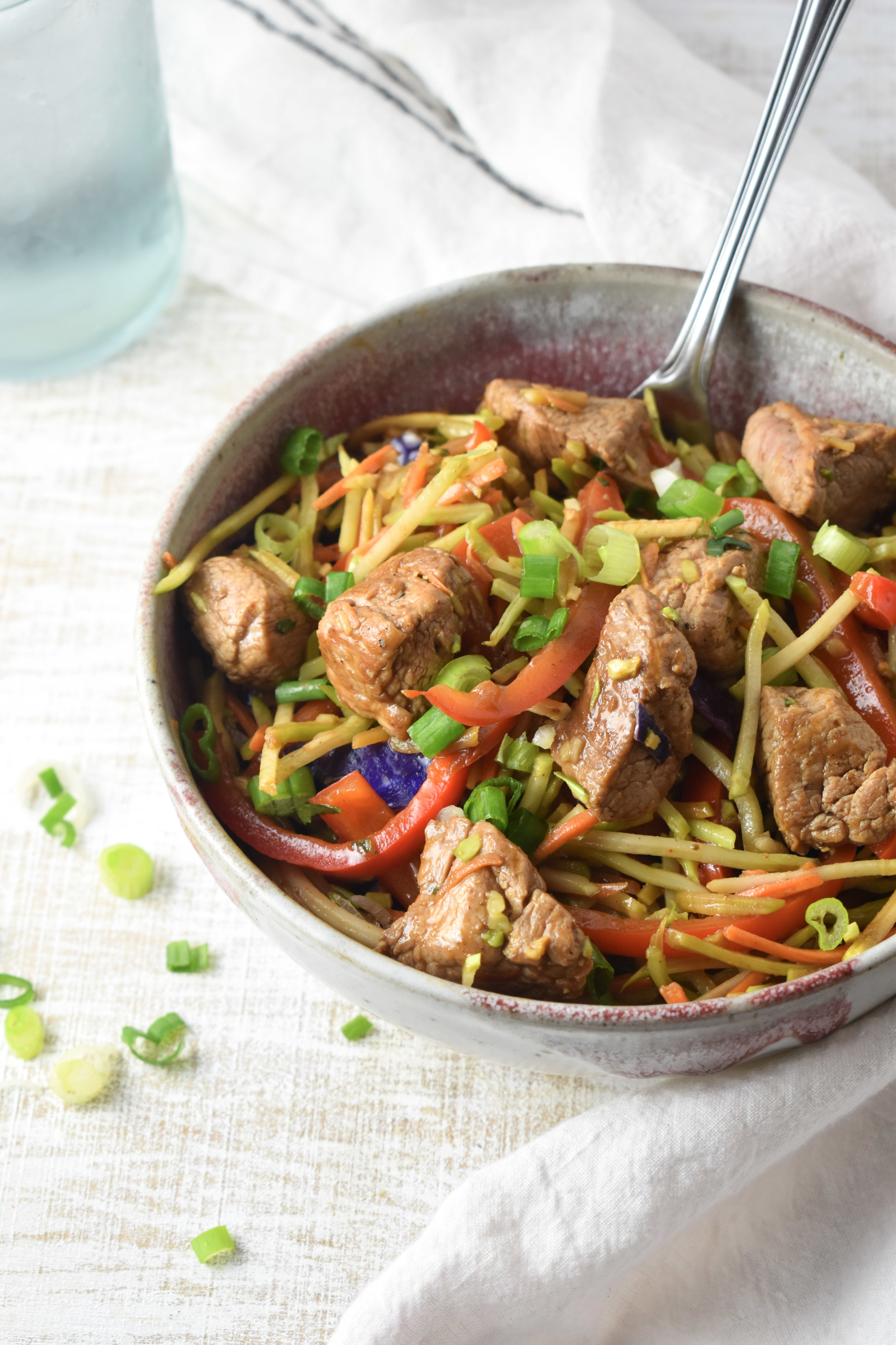 Quick Pork Vegetable Stir-Fry // CarolynWilliamsRD.com