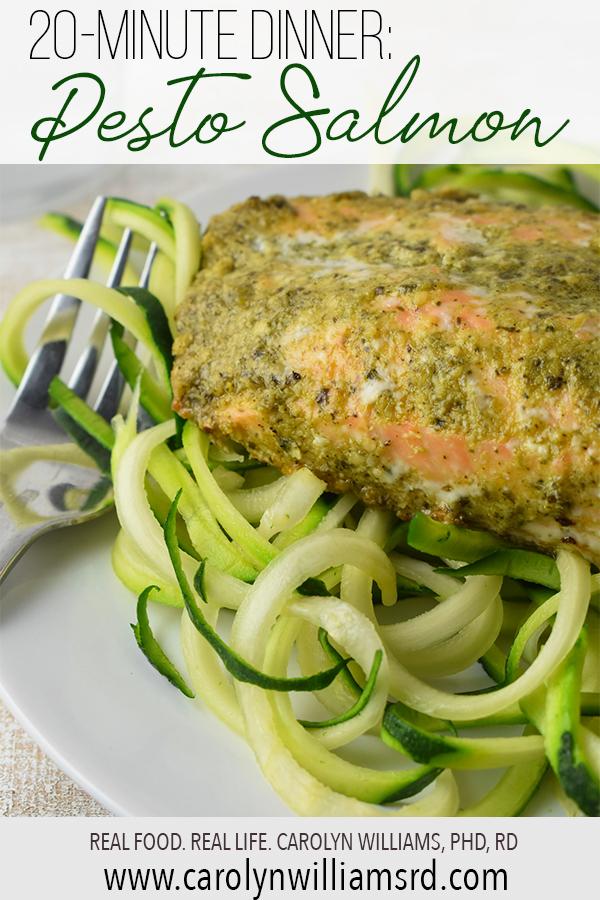 Pesto Salmon // CarolynWilliamsRD.com